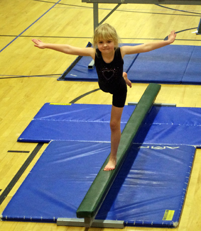 Allie can take gymnastics with the parks & rec department in the morning ...