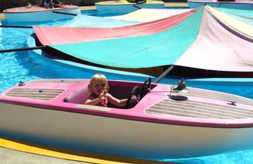 J in boat